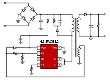 开关电源芯片u6215电路图